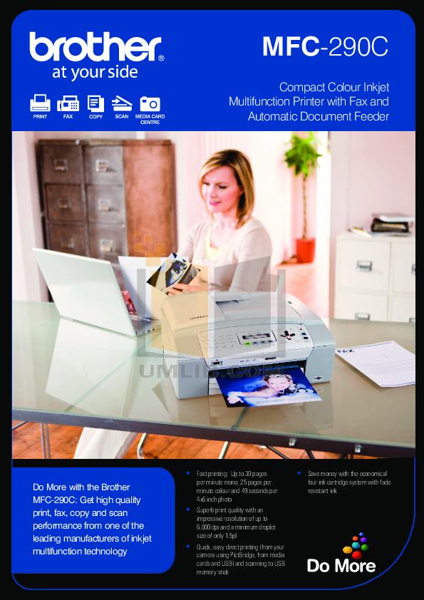 pdf manual for brother multifunction printer mfc 290c. Black Bedroom Furniture Sets. Home Design Ideas