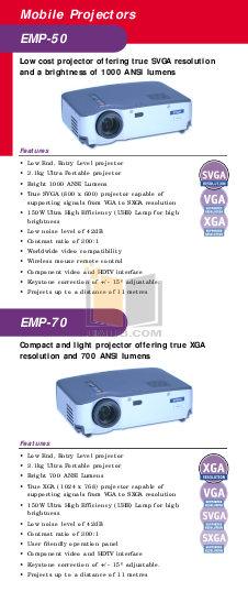 pdf for Epson Projector EMP-505 manual