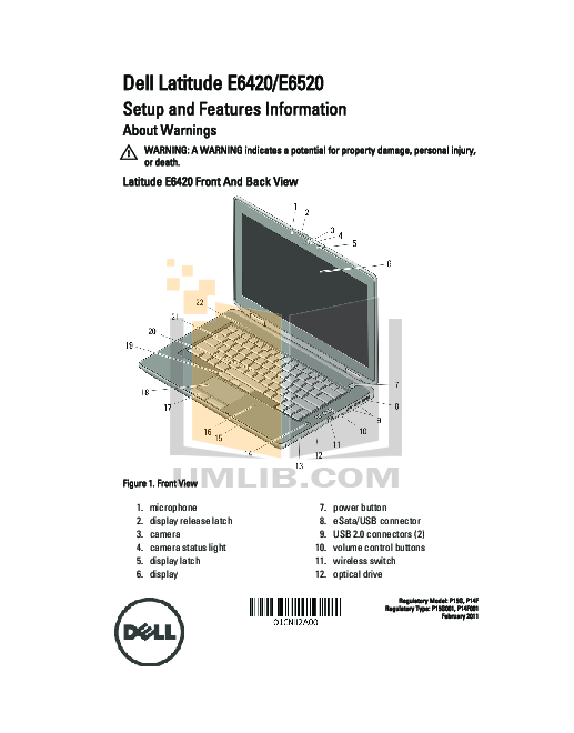 download free pdf for dell latitude e6520 laptop manual rh umlib com Dell Latitude E5420 Dell Latitude E6320