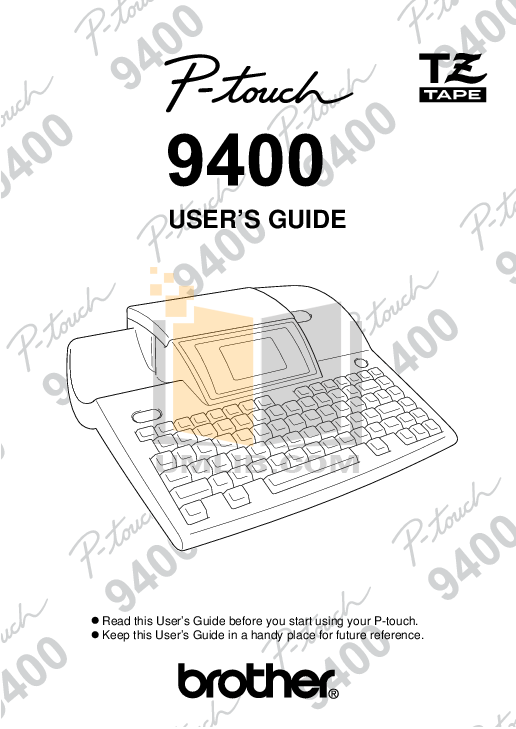 pdf for Brother Printer PT-9400 manual