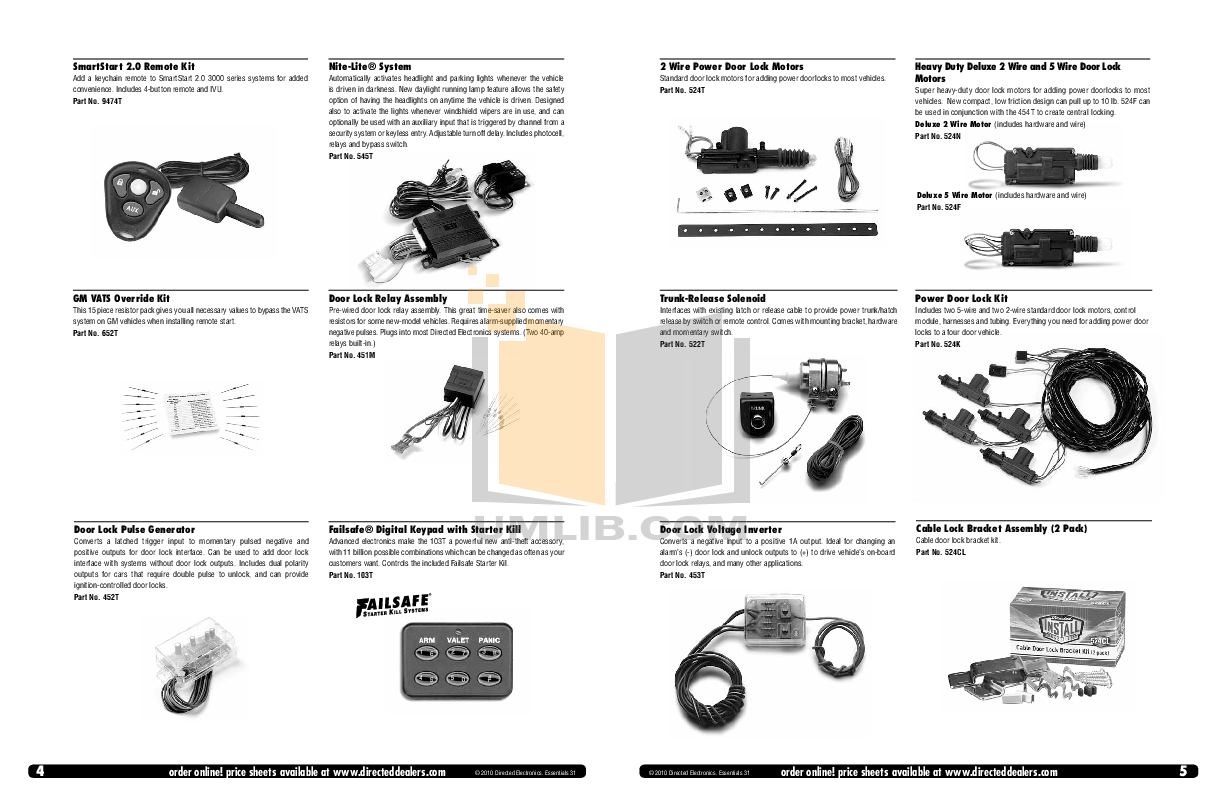 Pdf Manual For Dei Other Viper 550hf Car Alarms 451m Relay Wiring Diagram 5 Wire Select Page To View Click Over Image