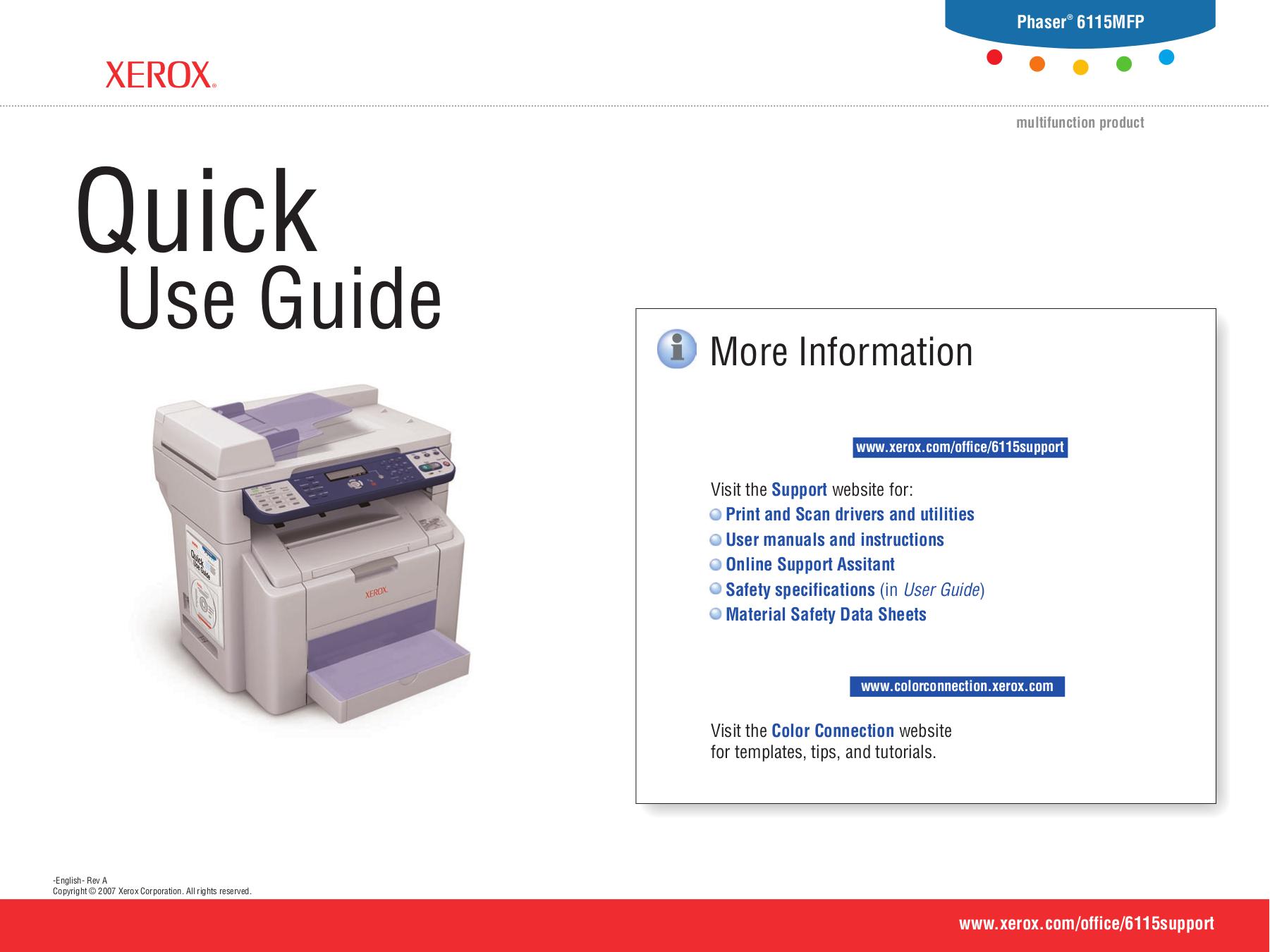 download free pdf for xerox phaser 6115mfp multifunction printer manual rh umlib com Xerox Phaser 3600 xerox phaser 6115 mfp service manual