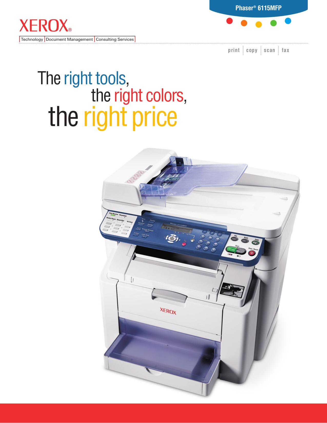 download free pdf for xerox phaser 6115mfp multifunction printer manual rh umlib com xerox phaser 6115 mfp service manual Xerox Phaser 6010