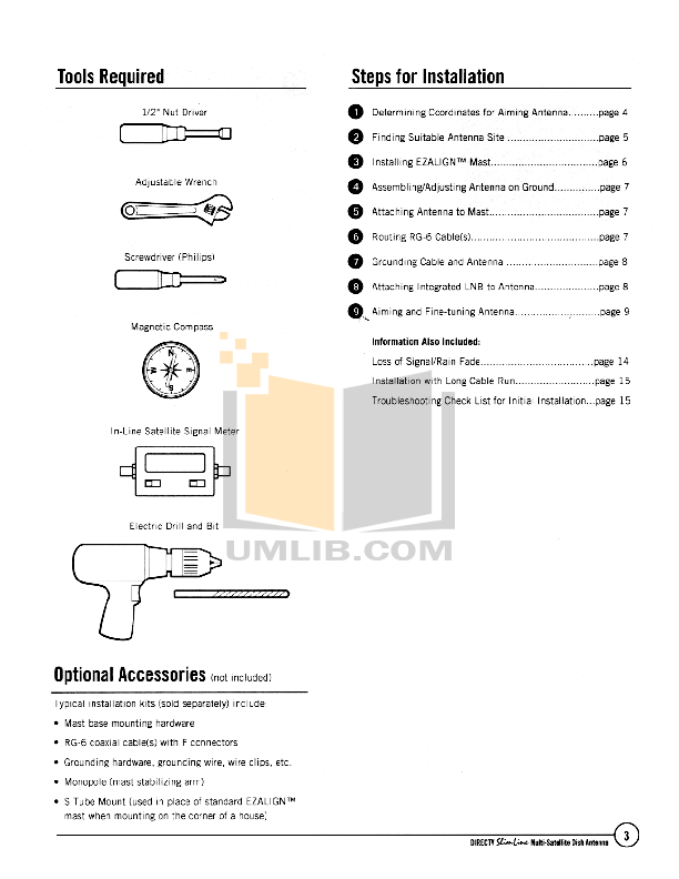 DirecTV Other Multi-Satellite Satellite Dish Antenna pdf page preview