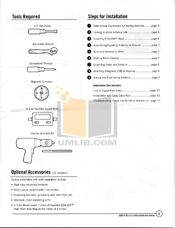 DirecTV Other Multi-Satellite Satellite Dish Antenna pdf page preview