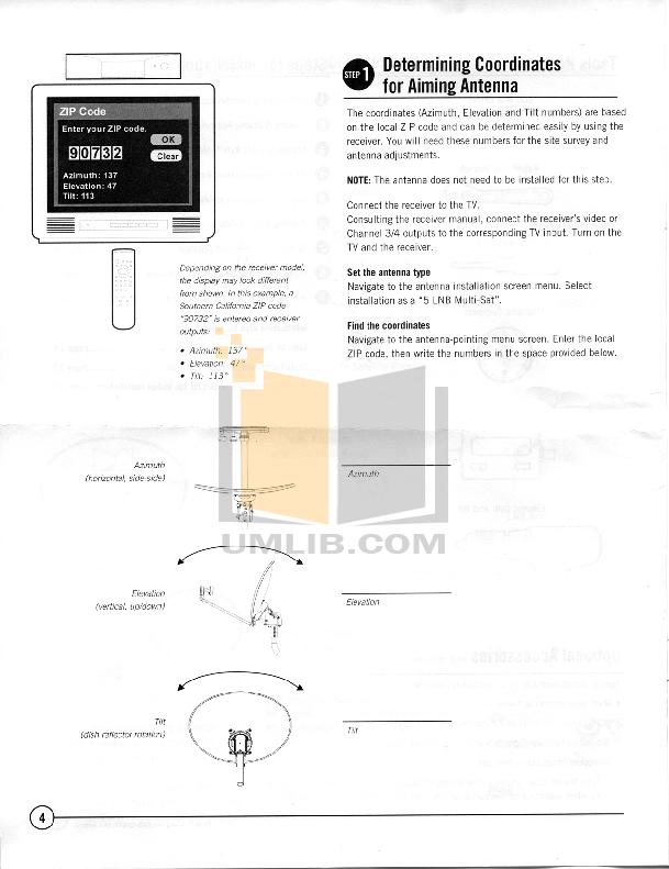 pdf manual for directv other multi satellite satellite dish antenna rh umlib com DirecTV HD Dish Slimline Flat Mount DirecTV Slimline Dish