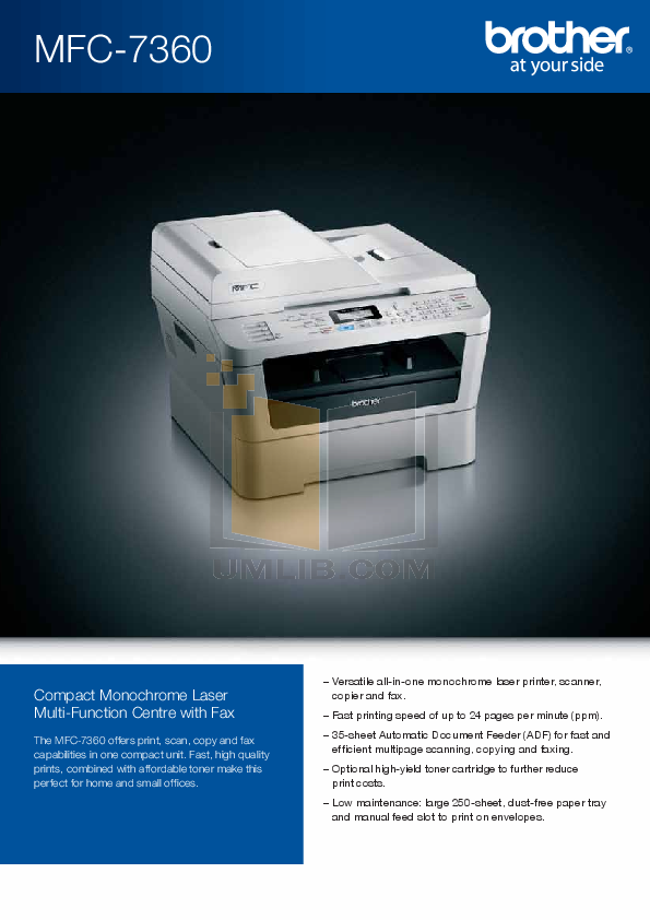 download free pdf for brother mfc 7360n multifunction printer manual rh umlib com brother mfc-7360n printer driver brother mfc 7360n printer scanner driver