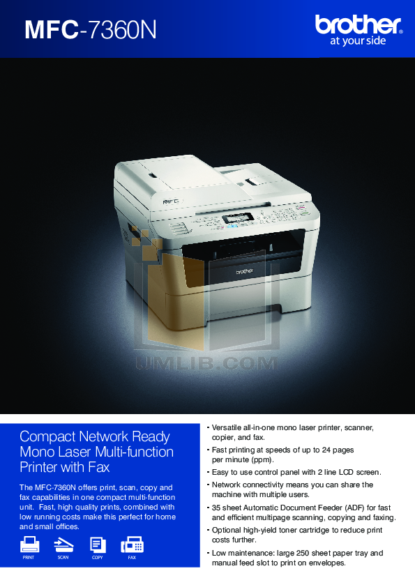download free pdf for brother mfc 7360n multifunction printer manual rh umlib com Brother MFC- J430W Brother MFC- 7860DW