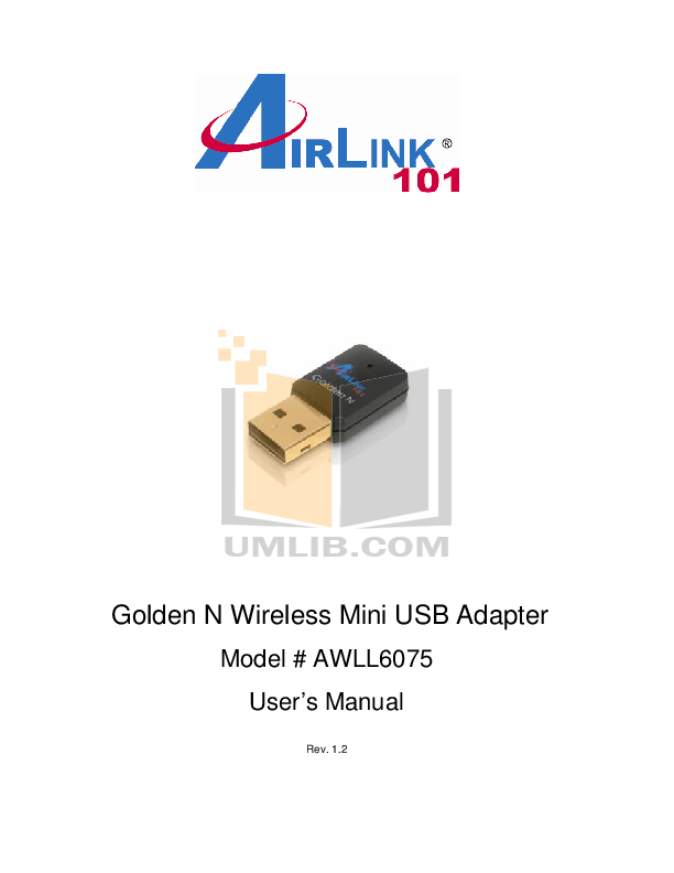 pdf for Airlink Other APL8511 Adapters manual