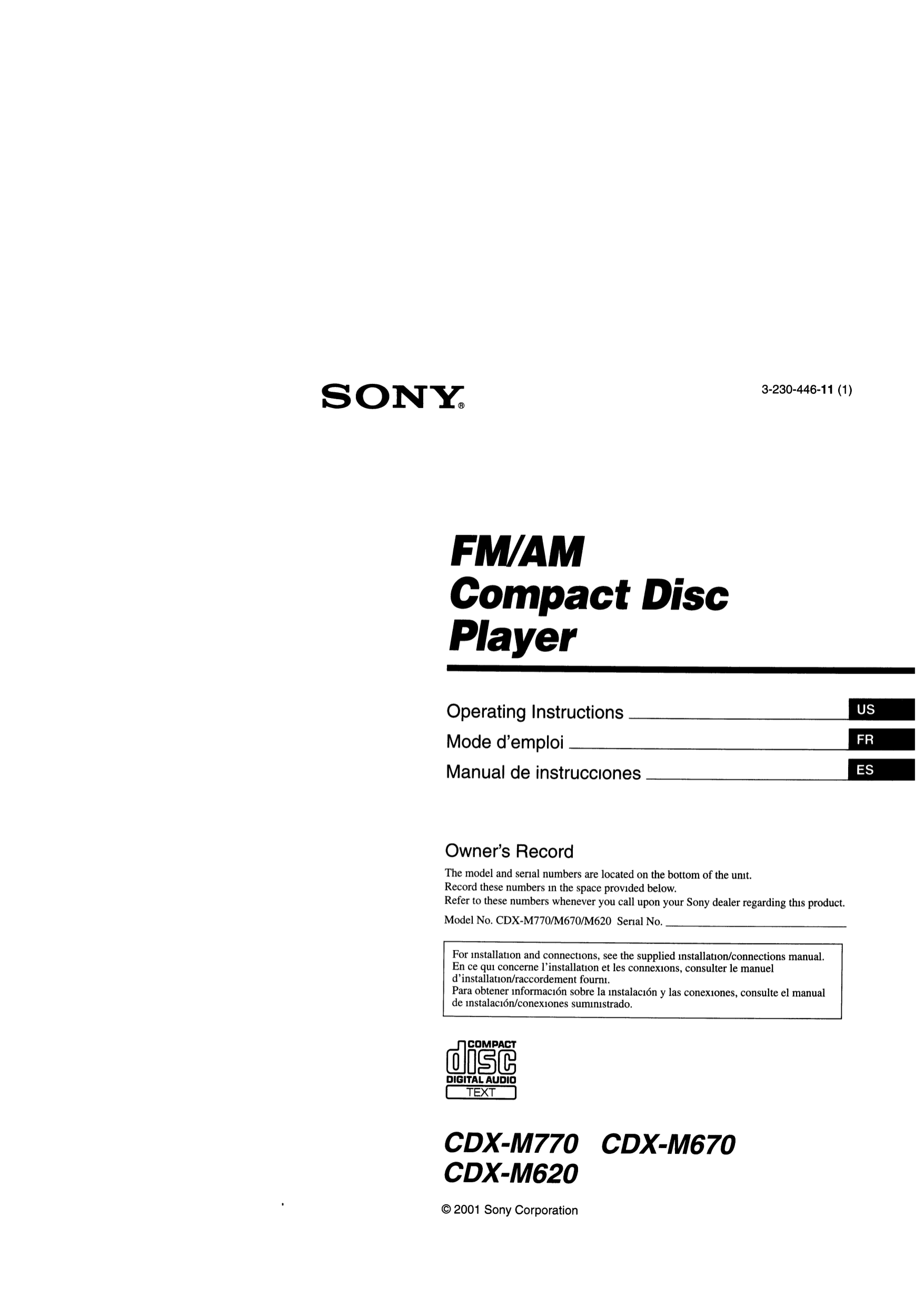 Sony Cdx M620 Wiring Diagram Electrical Diagrams Fm Am Compact Disc Player Download Free Pdf For Car Receiver Manual Pioneer Deh