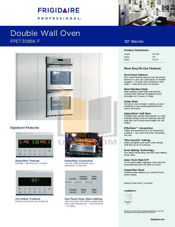 31 Cu Ft Single Wall Oven with AccuBake  System