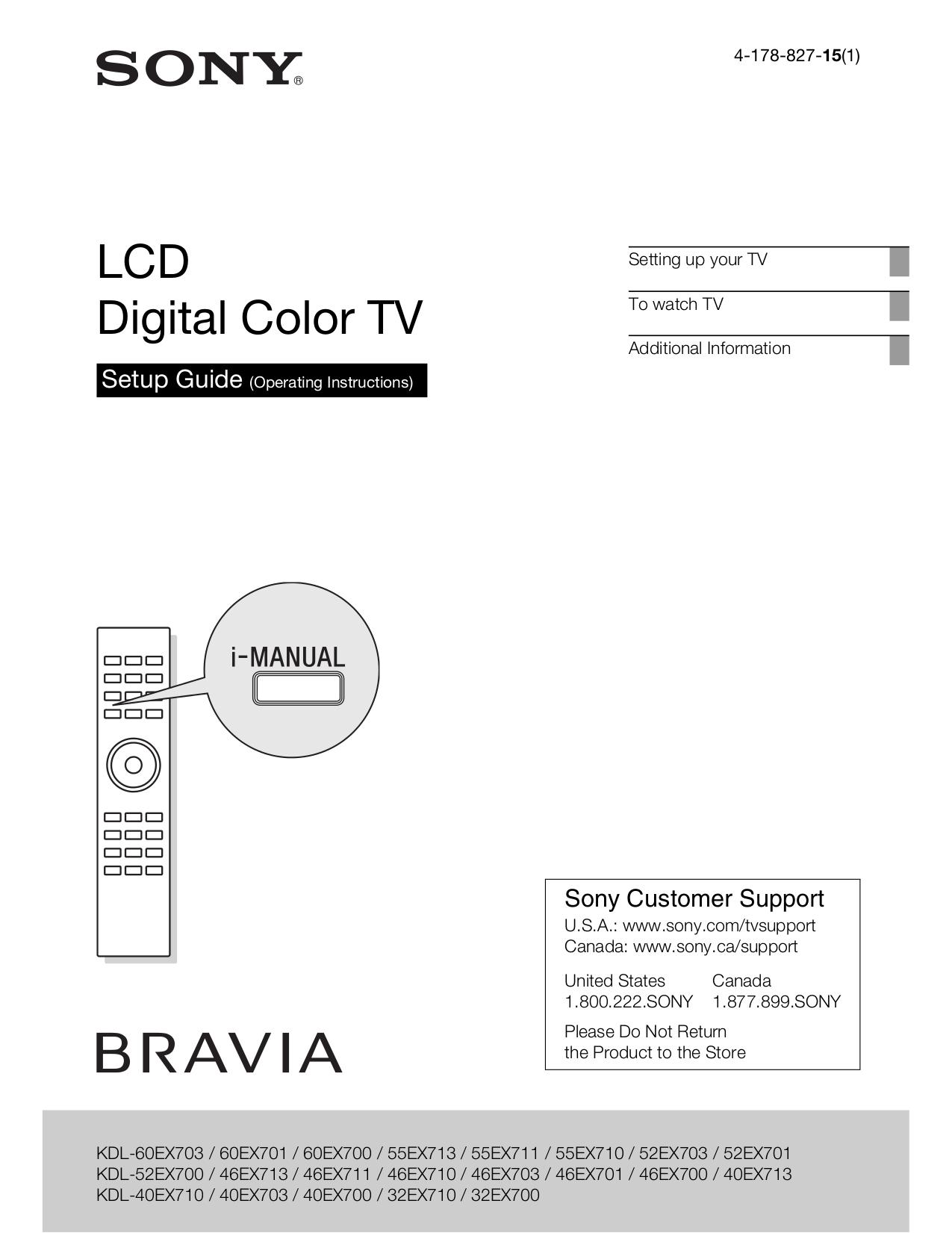 download free pdf for sony bravia kdl 52ex700 tv manual rh umlib com sony bravia kdl-52ex700 manual Sony KDL 70R550a