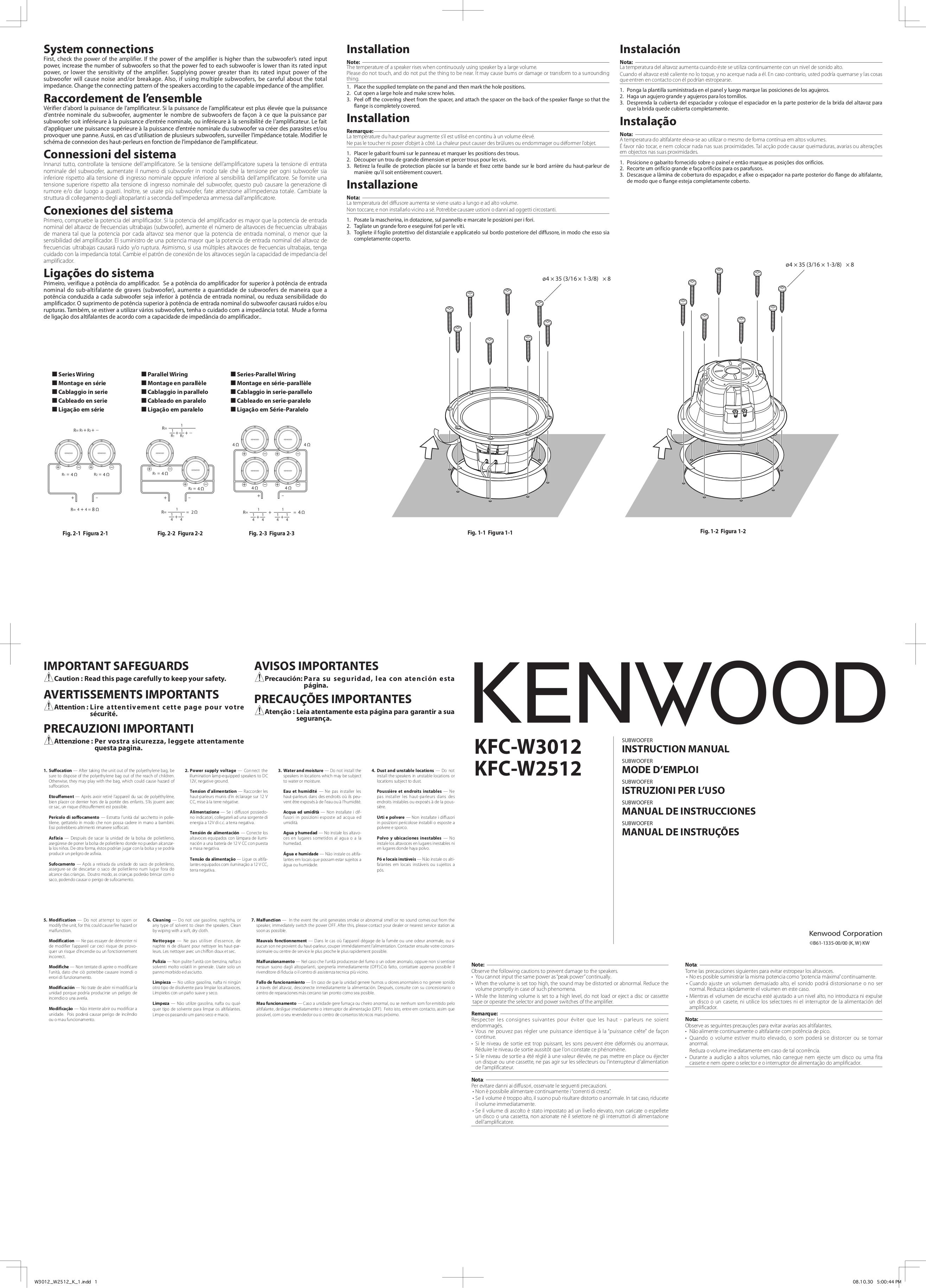 Download free pdf for kenwood kfc w3012 subwoofer manual pdf for kenwood subwoofer kfc w3012 manual sciox Gallery
