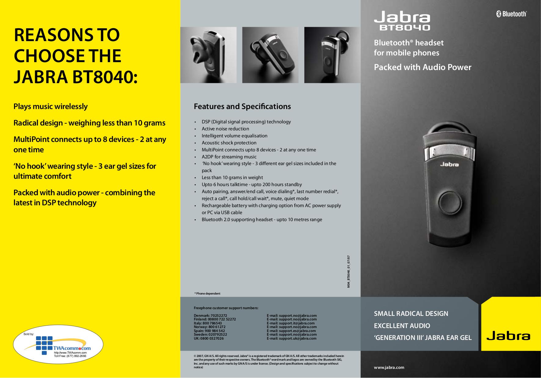 jabra bt8040 manual