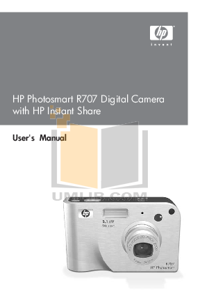 pdf for HP Digital Camera Photosmart R707v manual