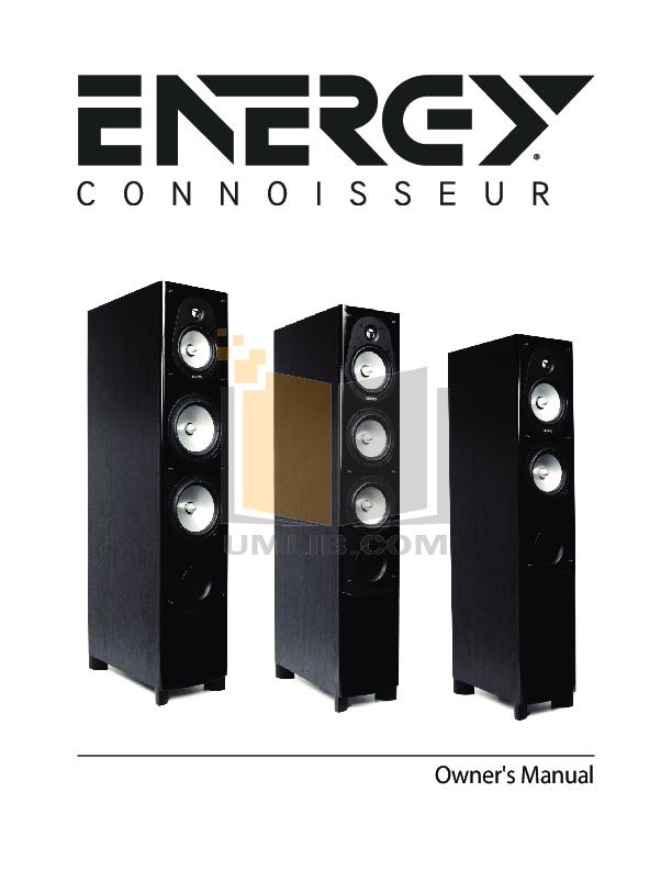 pdf for Energy Speaker Connoisseur CC-5 manual