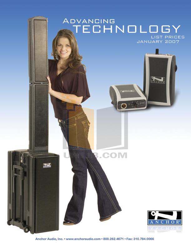 pdf for Anchor Speaker AN-130RCBK manual
