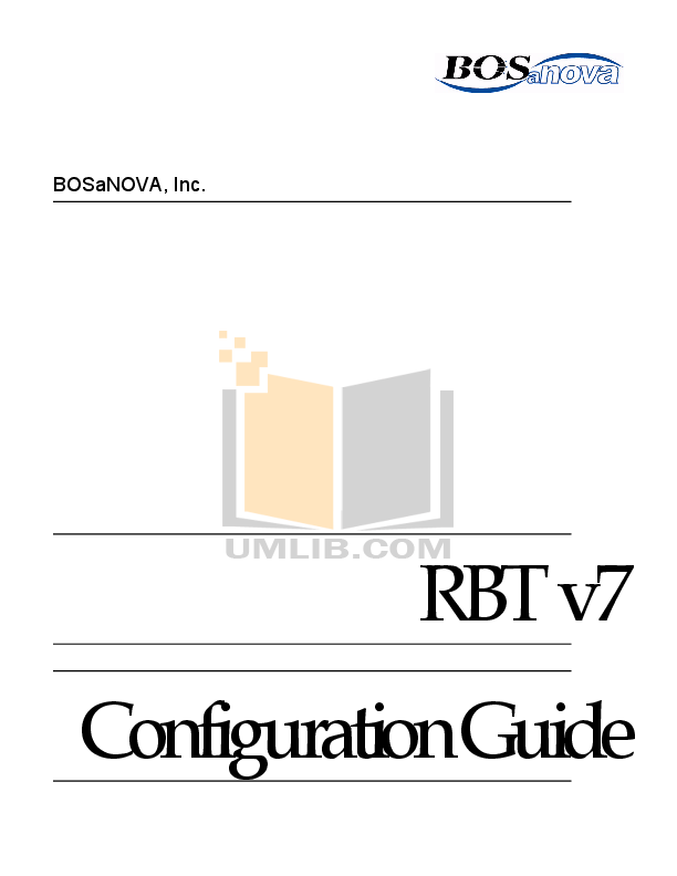pdf for Bosanova Desktop RBT-070 manual