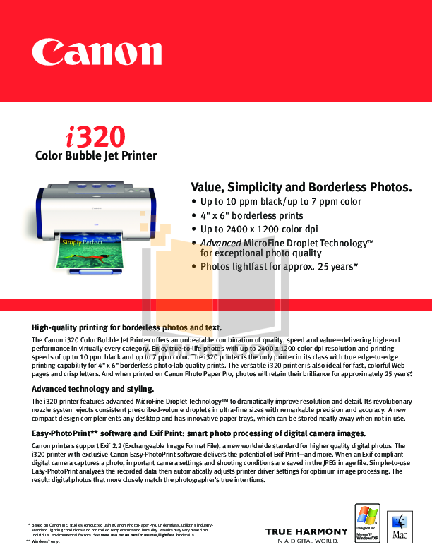 I320 canon инструкция инструкция