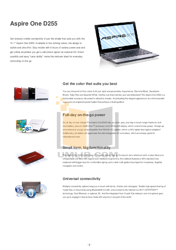 pdf manual for acer laptop aspire one d257 Acer Aspire One Models Acer Aspire One Support