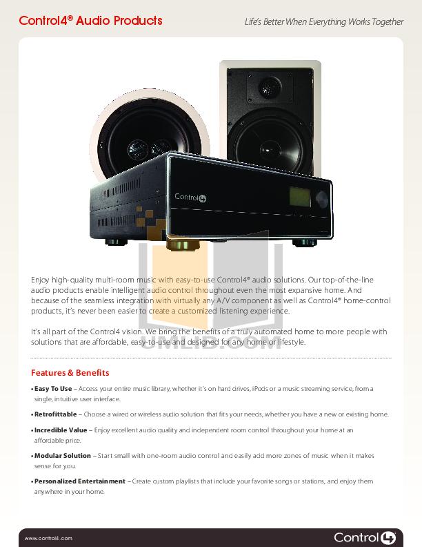 Download free pdf for Control4 C4-16AMP3-B Amp manual
