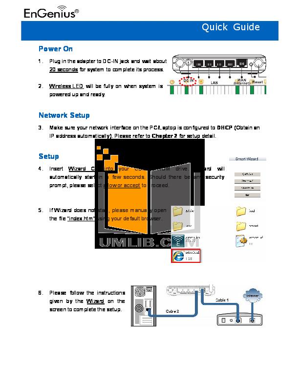 pdf for EnGenius Wireless Router ESR-1221N2 manual