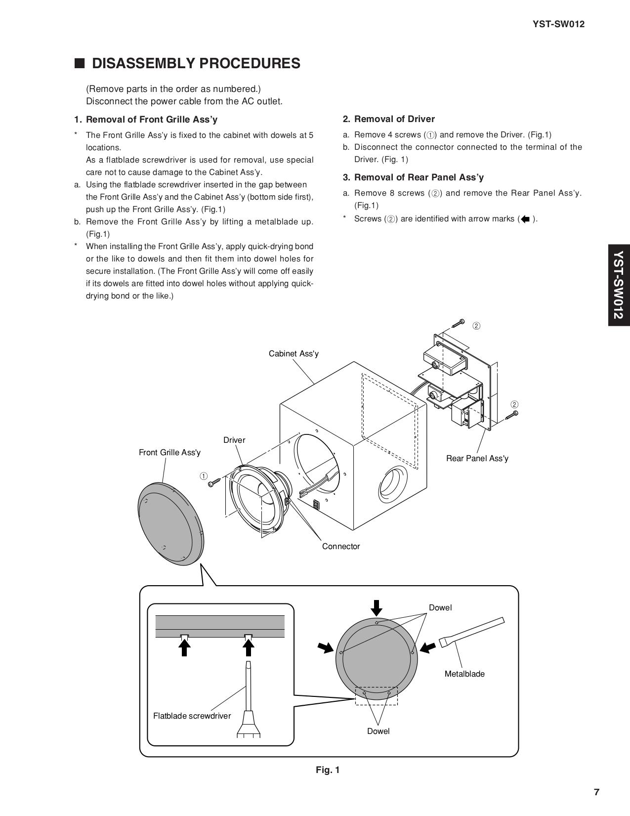 Yamaha Sw Manual