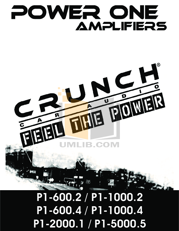pdf for Crunch Car Amplifier PowerOne P1-1000.2 manual