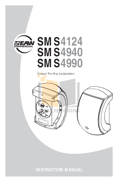 pdf for Eaw Speaker System PM315 manual