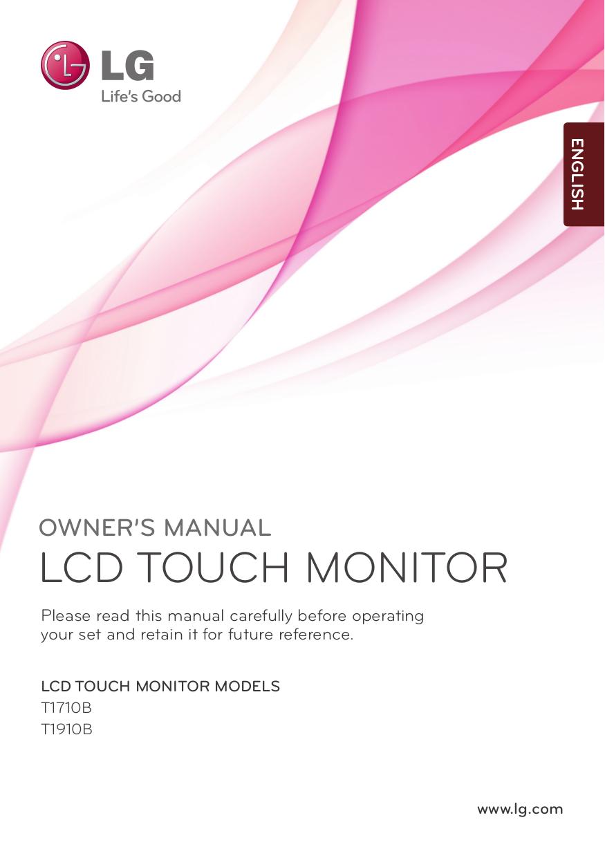 pdf for LG Monitor T1710B manual