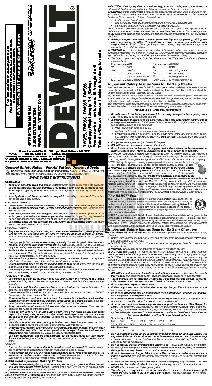 ANY NICD DEWALT BATTERY DOCUMENT Original (PDF)