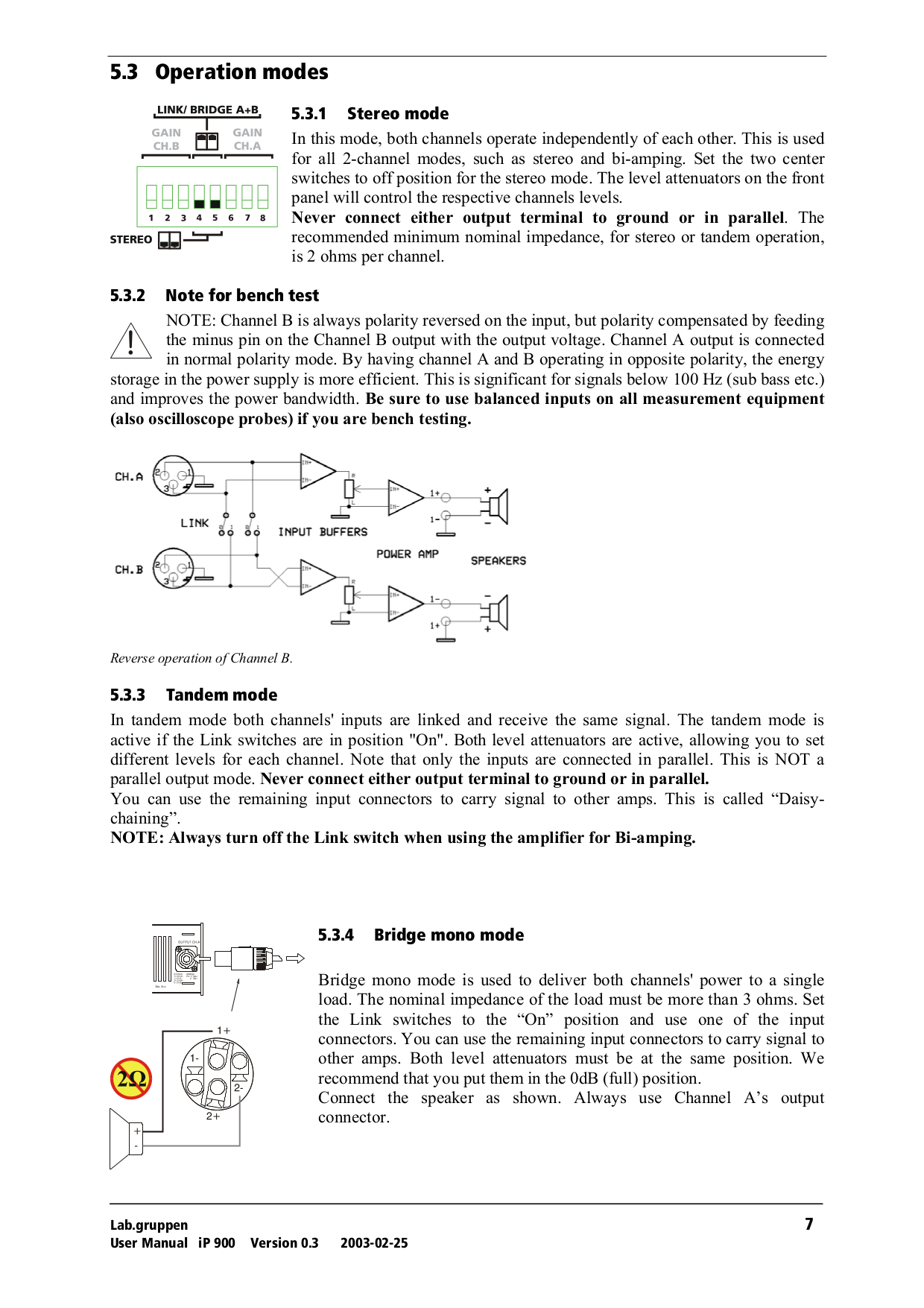 Lab.gruppen Amp iP Series IP 900 pdf page preview