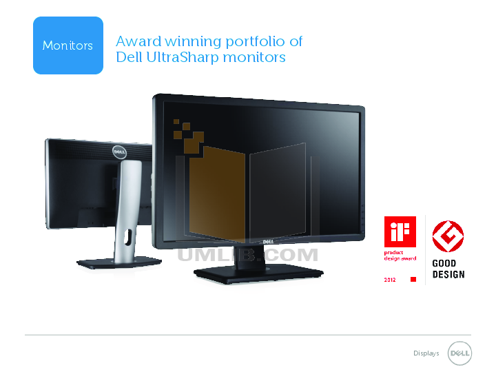 pdf for Dell Monitor UltraSharp U2412M manual