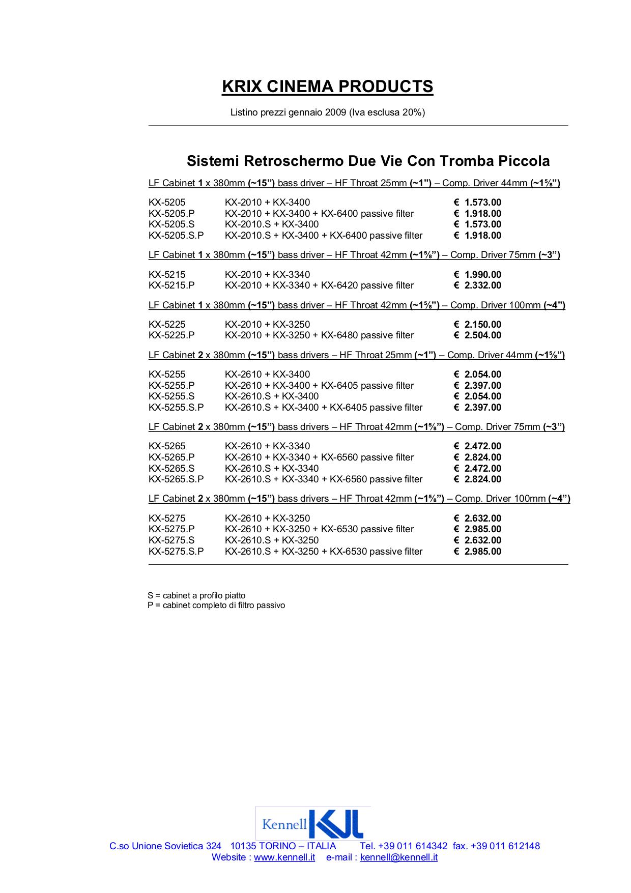 pdf for Krix Speaker KX-5982 manual