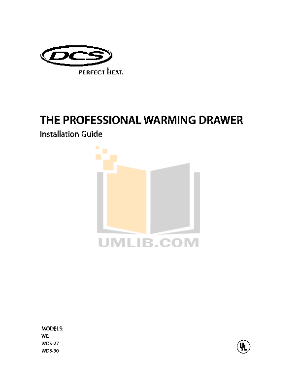 pdf for DCS Other WDS-30 Warming Drawers manual