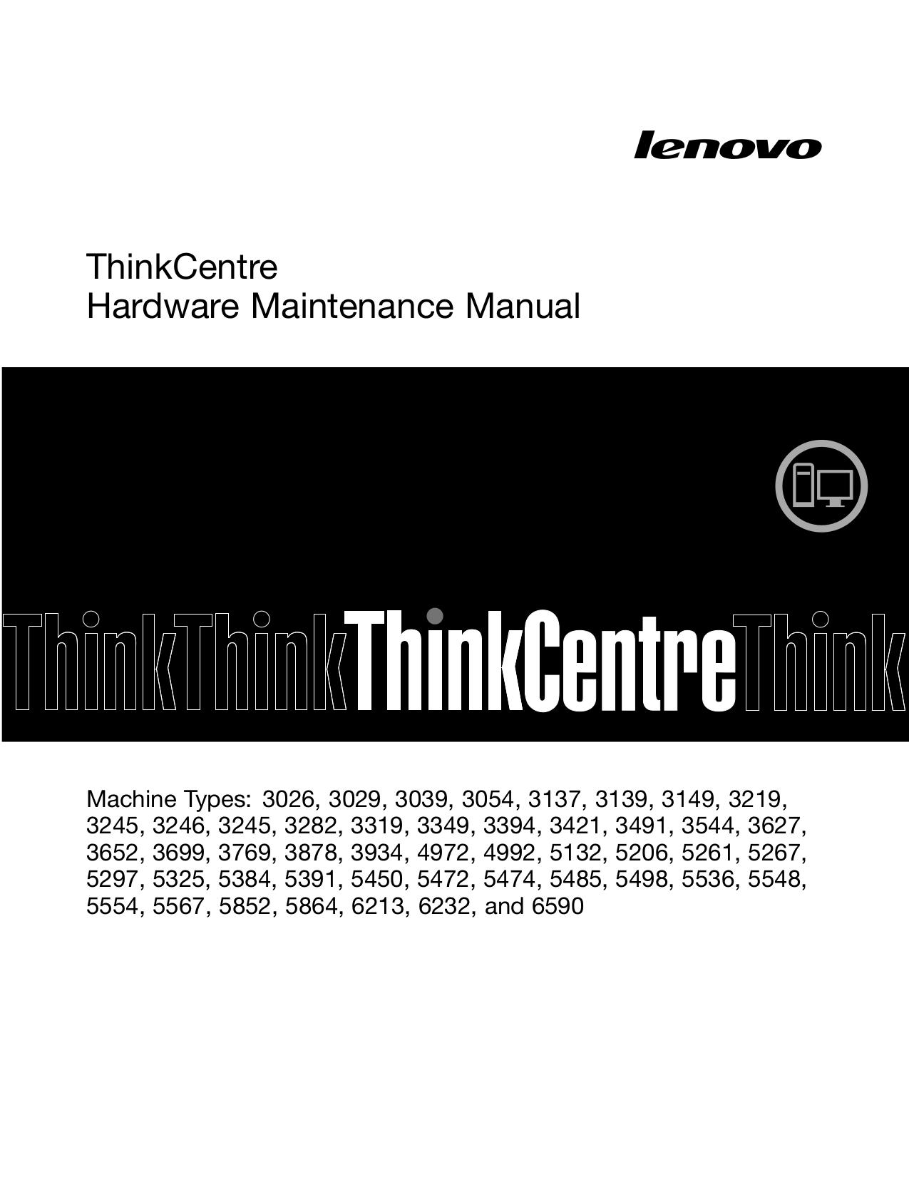 pdf for Lenovo Desktop ThinkCentre M90 5554 manual