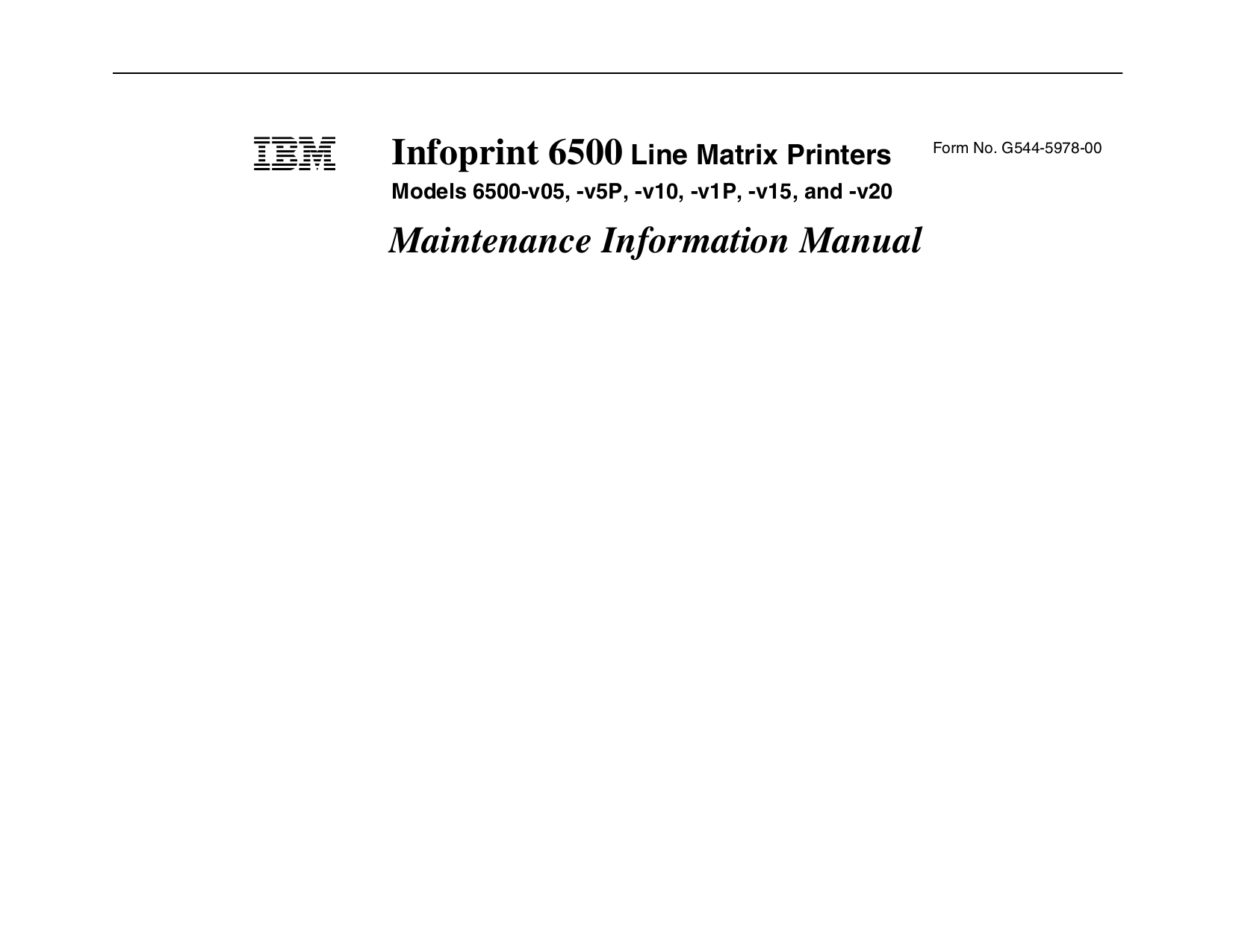 pdf for IBM Printer InfoPrint 6500 manual