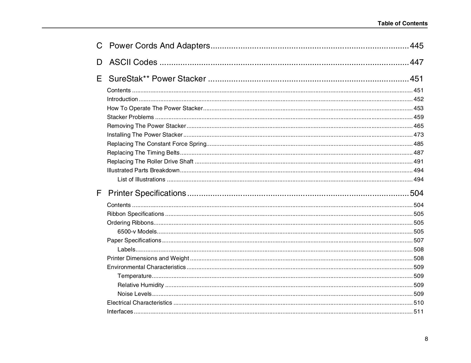 ... IBM Printer InfoPrint 6500 pdf page preview