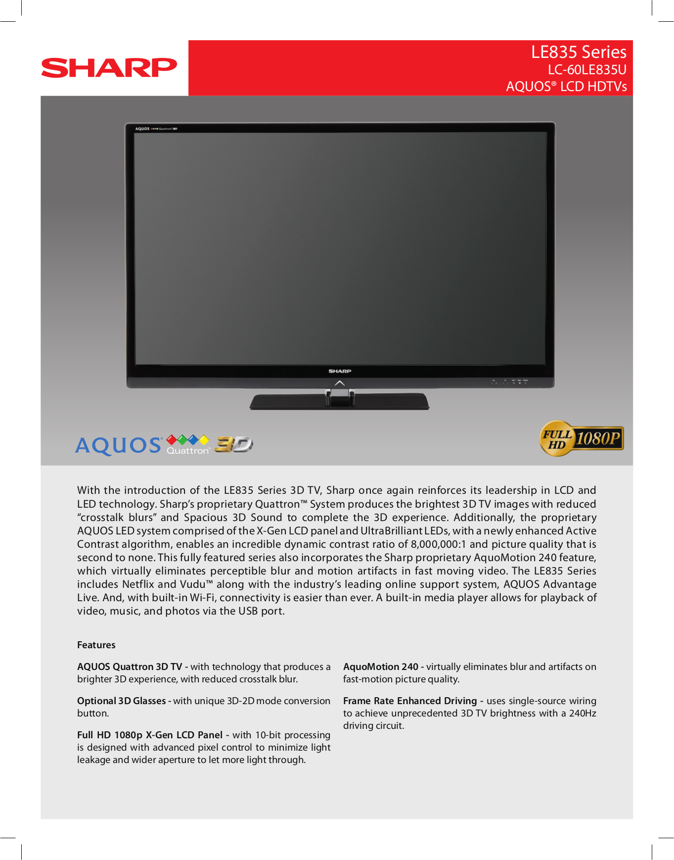 download free pdf for sharp aquos lc 60le835u tv manual rh umlib com Sharp ManualsOnline Sharp ManualsOnline