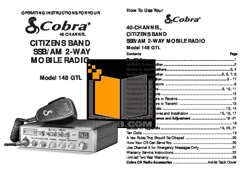 download free pdf for cobra 148gtl 2 way radio manual rh umlib com cobra 148 gtl manual download cobra 148 gtl manual download