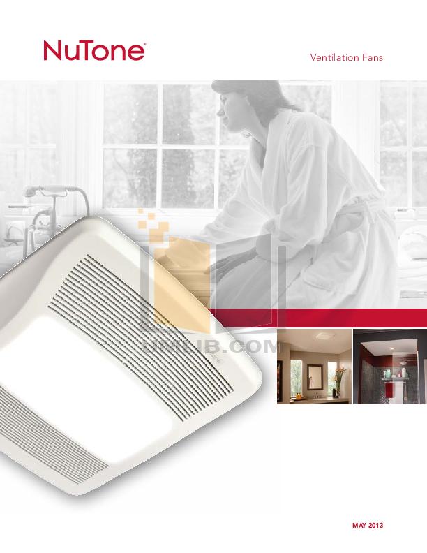 pdf for Broan-NuTone Other HD80RDB Ventilation Fans manual