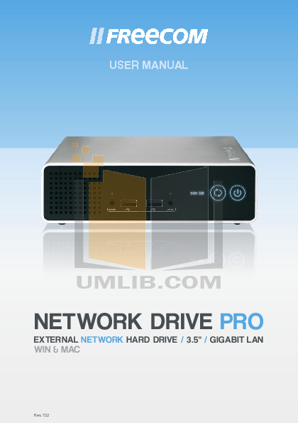 pdf for Freecom Storage Network Drive PRO manual