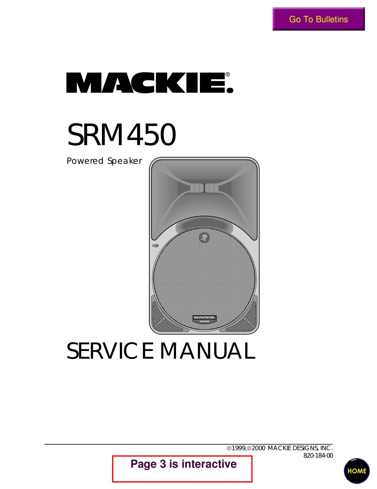 Mackie smr 450 инструкция
