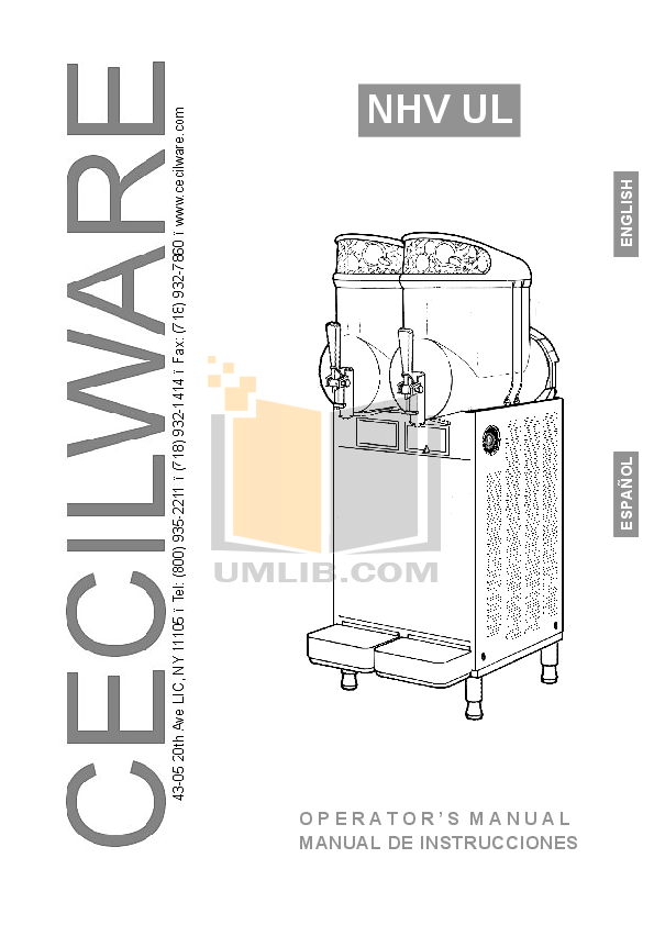 pdf for Cecilware Other NHT-3-UL Dispensers manual