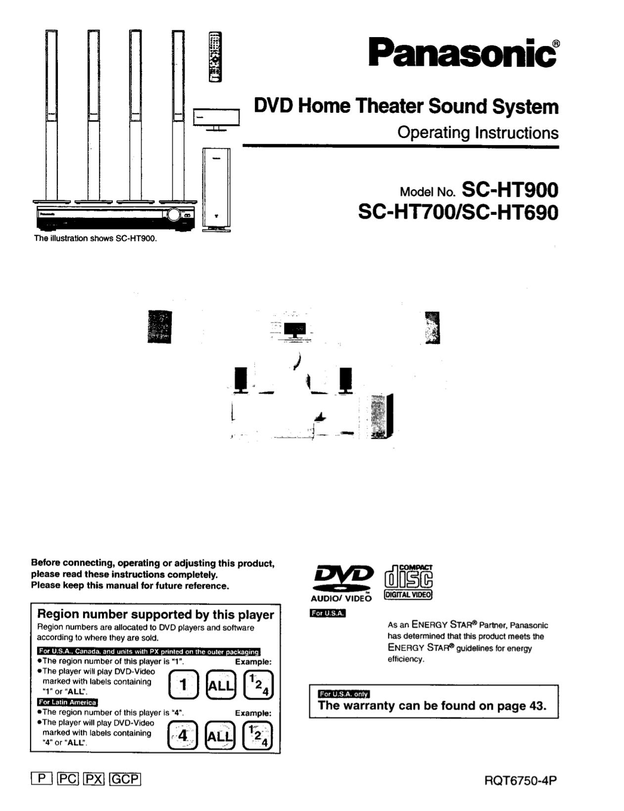 download free pdf for panasonic sa ht900 home theater manual rh umlib com panasonic sa-ht900 manual pdf panasonic sa-ht900 manual pdf