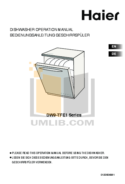 download free pdf for haier dw9 afe dishwasher manual. Black Bedroom Furniture Sets. Home Design Ideas