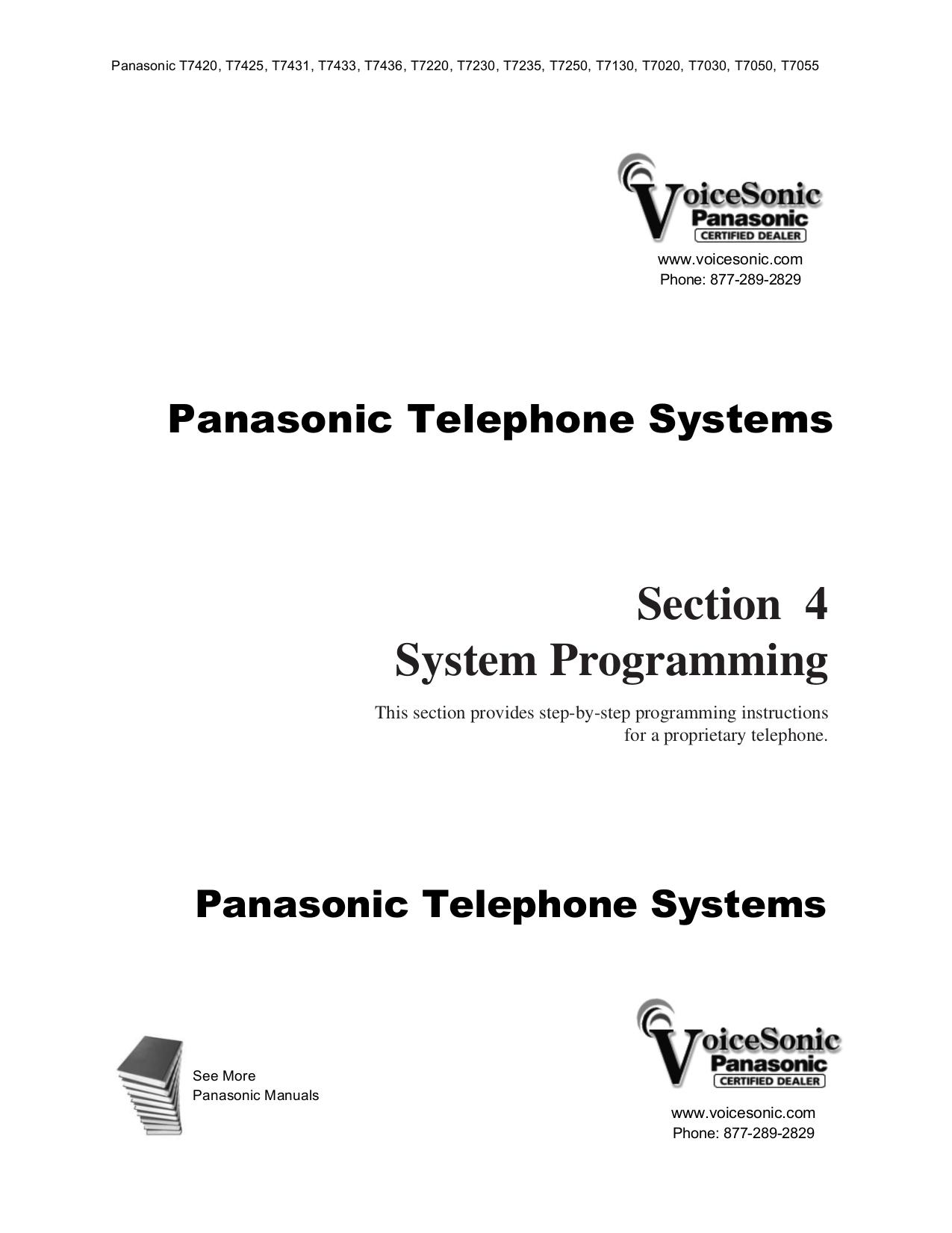 Panasonic kx-t7220 manual.
