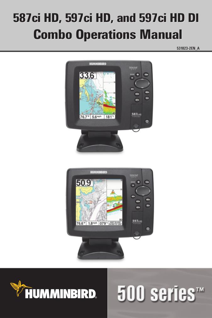 pdf for Humminbird GPS 958c DI Combo manual