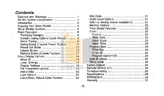 Audiovox Satellite Radio SIR-CK3 pdf page preview