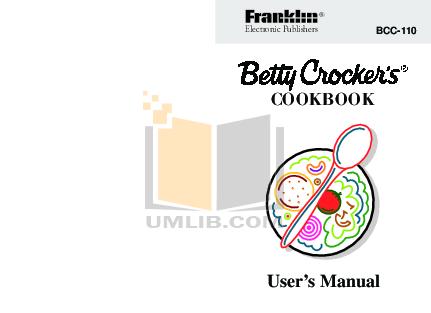 pdf for Franklin PDA IC-110 manual